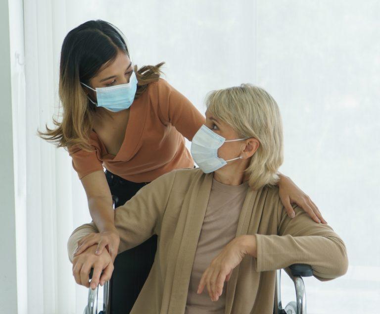 Caregiver Client w/masks