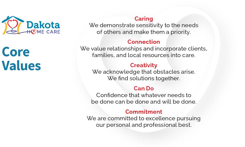 Dakota Home Care's Core Values